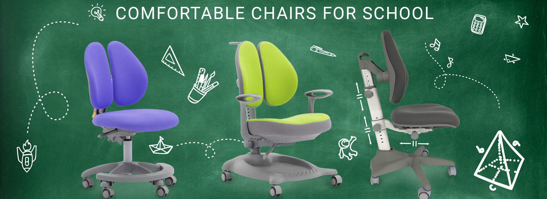 Comfortable GT Racer orthopedic chairs for school!
