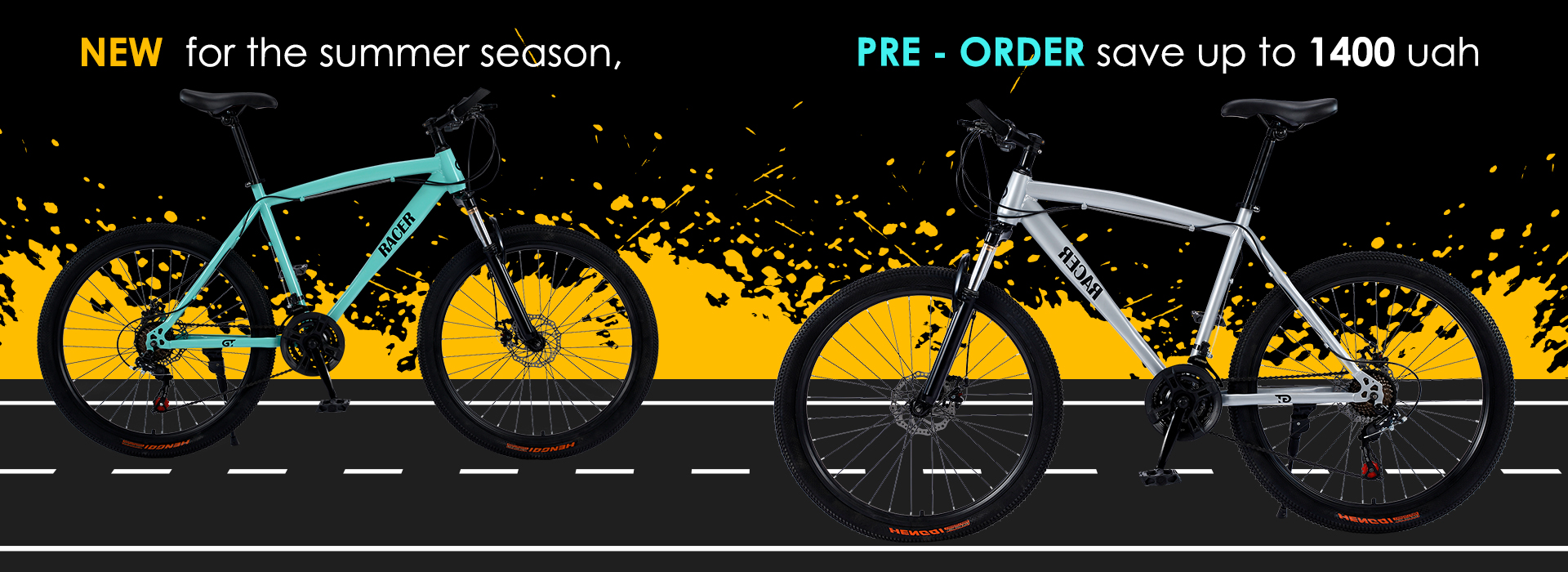 Stock! Discount on pre-order Gt Racer bikes!