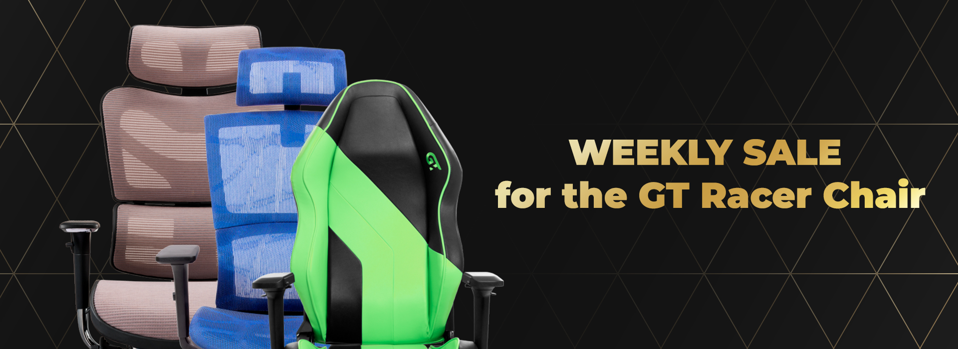 Stock! Weekly sale for the GT Racer chair!