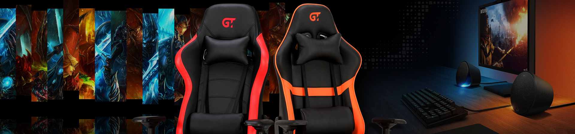 Геймерські крісла Колір Чорний з темно-сірим