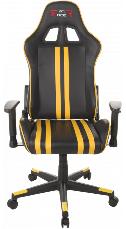 Gaming chair GT Racer X-2504-M (Massage) Black/Yellow