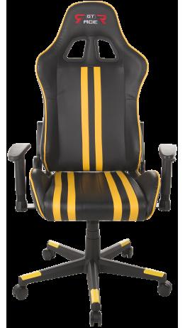 Геймерське крісло GT Racer X-2504-M (Massage) Black/Yellow