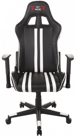 Gaming chair GT Racer X-2504-M (Massage) Black/White