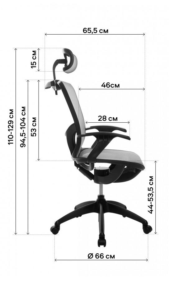 Офісне крісло GT Racer B-262 Gray