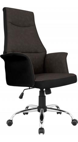 Офісне крісло GT Racer B-4030 Black/Dark Brown