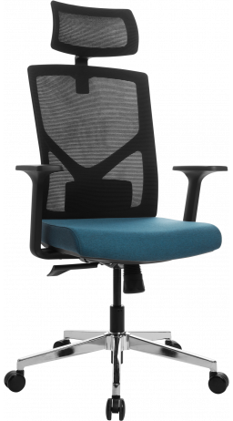 Офісне крісло GT Racer B-8005A Black/Blue