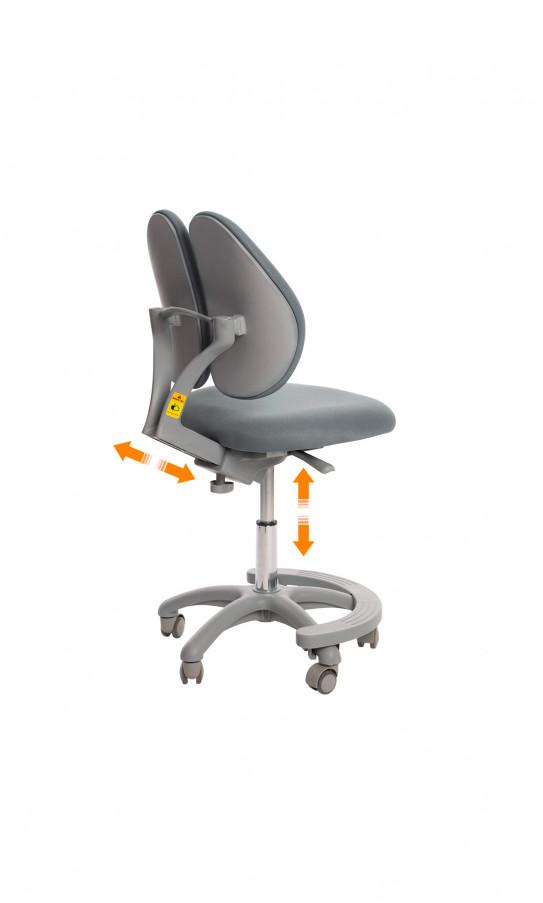 Дитяче крісло GT Racer C-1004 Orthopedic Gray