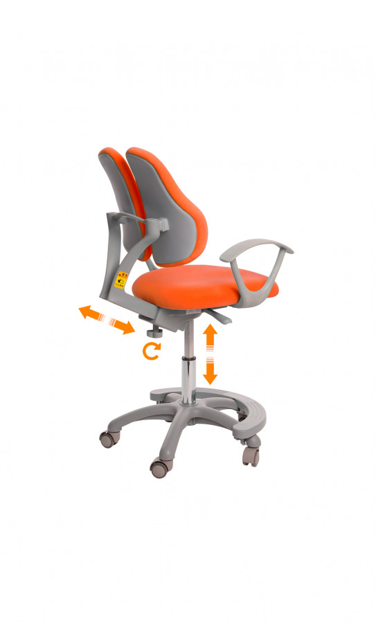 Дитяче крісло GT Racer C-1005 Orthopedic Orange