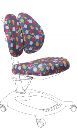 11Чохол для крісла GT Racer CVR-1015 blue