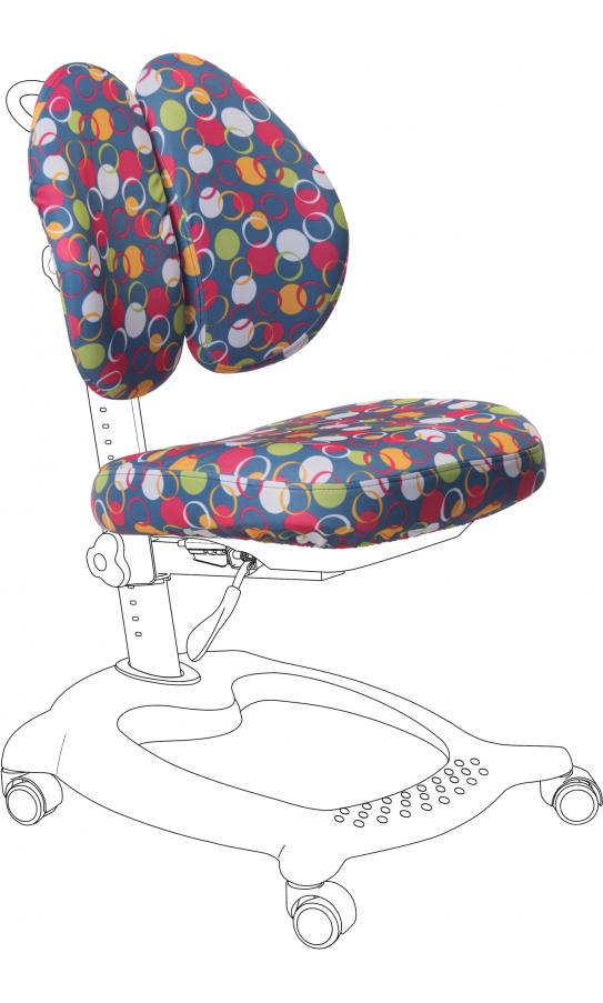 Чехол для кресла GT Racer CVR-1015 blue