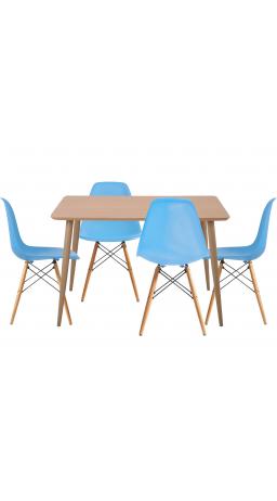 Комплект обідній GT DT15045/X-D10 Blue (стіл + 4 стільця)