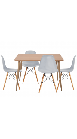 Комплект обідній GT DT15045/X-D10 Light Gray (стіл + 4 стільця)