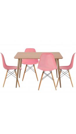 Комплект обідній GT DT15045/X-D10 Pink (стіл + 4 стільця)