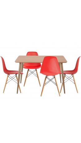 Комплект обідній GT DT15045/X-D10 Red (стіл + 4 стільця)