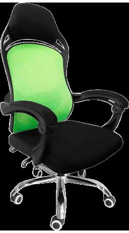 11Офисне крісло GT Racer H-2201 Black/Green