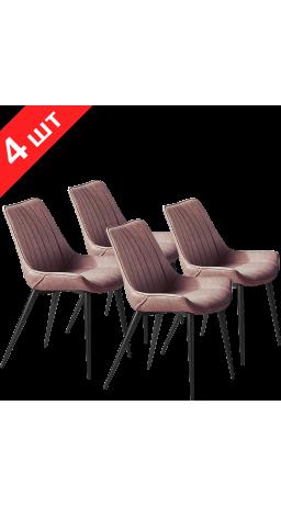 Chairs set GT K-1020 Dark Brick (4 psc)