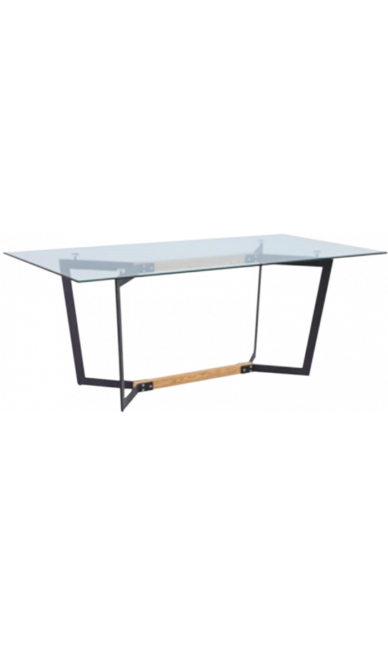 Стіл GT K-4007 (140x80x76) Clear glass/Black