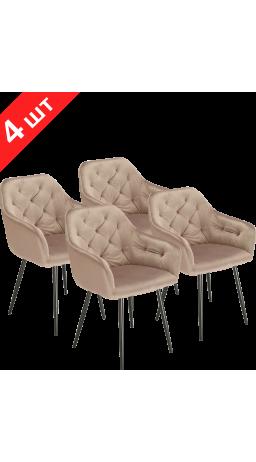 Chairs set GT K-8175 Light Brown (4 psc)