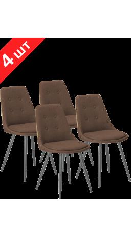 Комплект стільців GT K-8764 Fabric Brown (4 шт)