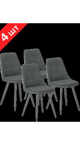 Комплект стільців K-8764 Fabric Gray (4 шт)