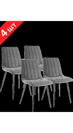 Комплект стільців GT K-2001 Fabric Black (4 шт)