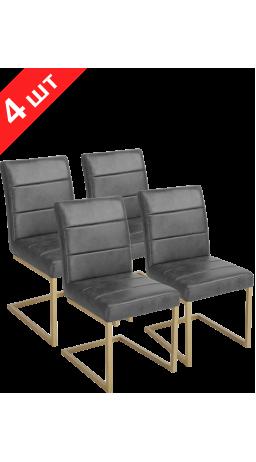 Комплект стільців GT KY8776 Black/Bronzing (4 шт)