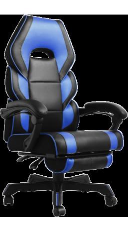 11Геймерське крісло GT Racer M-2643 Black/Blue