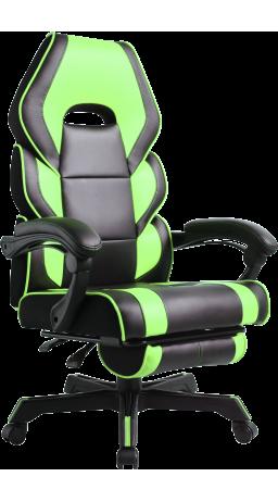 11Геймерське крісло GT Racer M-2643 Black/Green