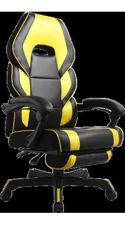 11Геймерське крісло GT Racer M-2643 Black/Yellow