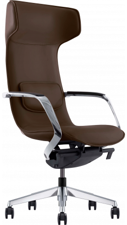 Офисное кресло GT Racer X-003F LEATHER Brown