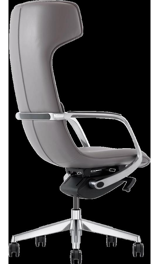 Офісне крісло GT Racer X-003F LEATHER Dark Gray