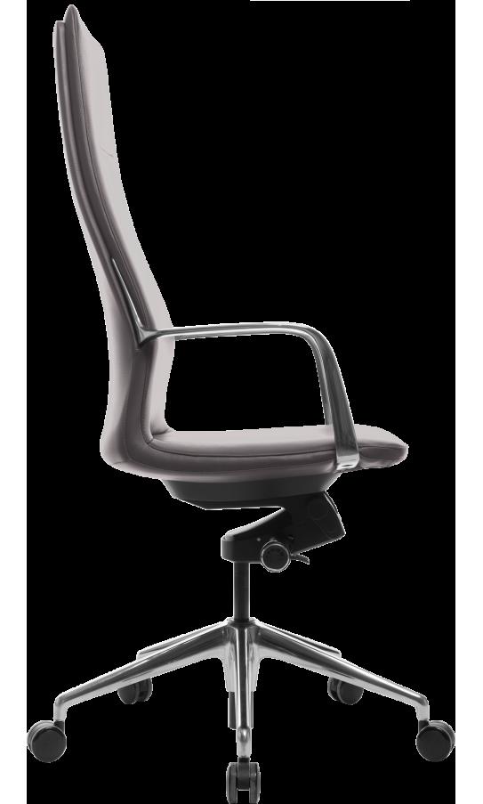 Офісне крісло GT Racer X-004A13 LEATHER Dark Gray
