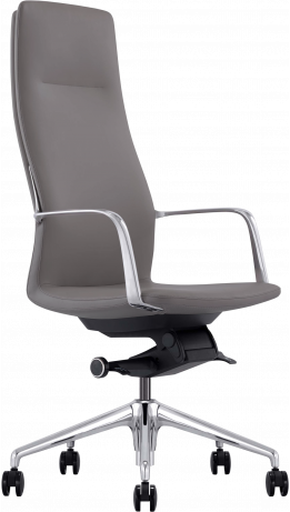 Офисное кресло GT Racer X-004A13 LEATHER Dark Gray