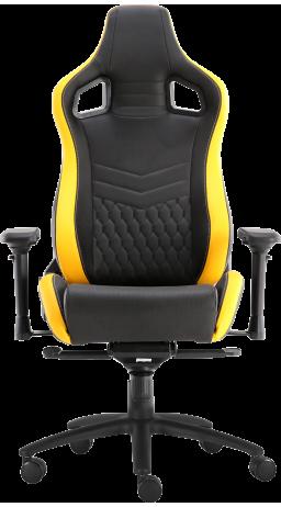 11Геймерське крісло GT Racer X-0718 Black/Yellow