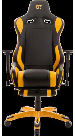 11Геймерское кресло GT Racer X-0722 Black/Yellow