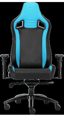 11Геймерське крісло GT Racer X-0814 Black/Light Blue