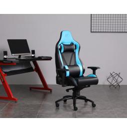 Геймерське крісло GT Racer X-0814 Black/Light Blue
