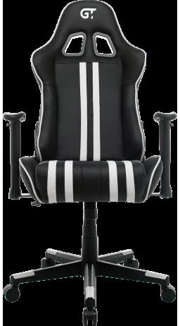 11Геймерське крісло GT Racer X-2504-M (Massage) Black/White