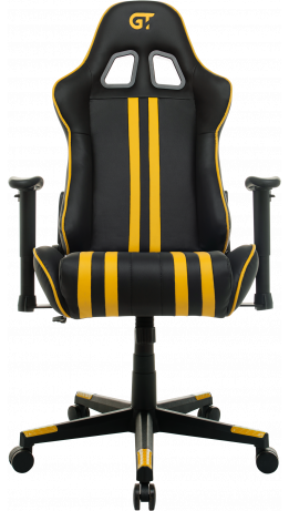Геймерське крісло GT Racer X-2504-M (Massage) Black/Yellow