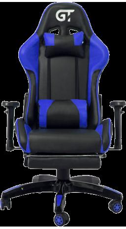 11Геймерське крісло GT Racer X-2525-F Black/Blue