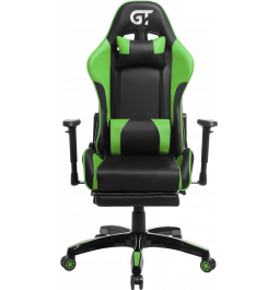 Геймерское кресло GT Racer X-2525-F Black/Green