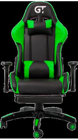 11Геймерское кресло GT Racer X-2525-F Black/Green