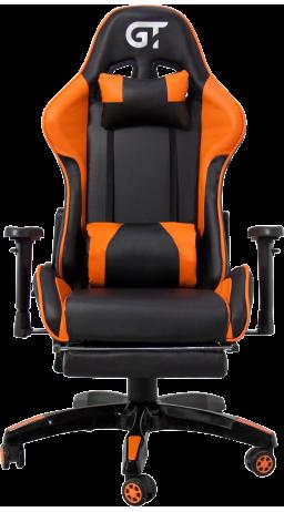 11Геймерское кресло GT Racer X-2525-F Black/Orange