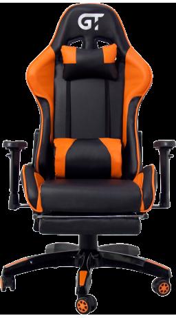 11Геймерське крісло GT Racer X-2525-F Black/Orange