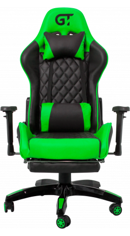 11Геймерське крісло GT Racer X-2526 Black/Green