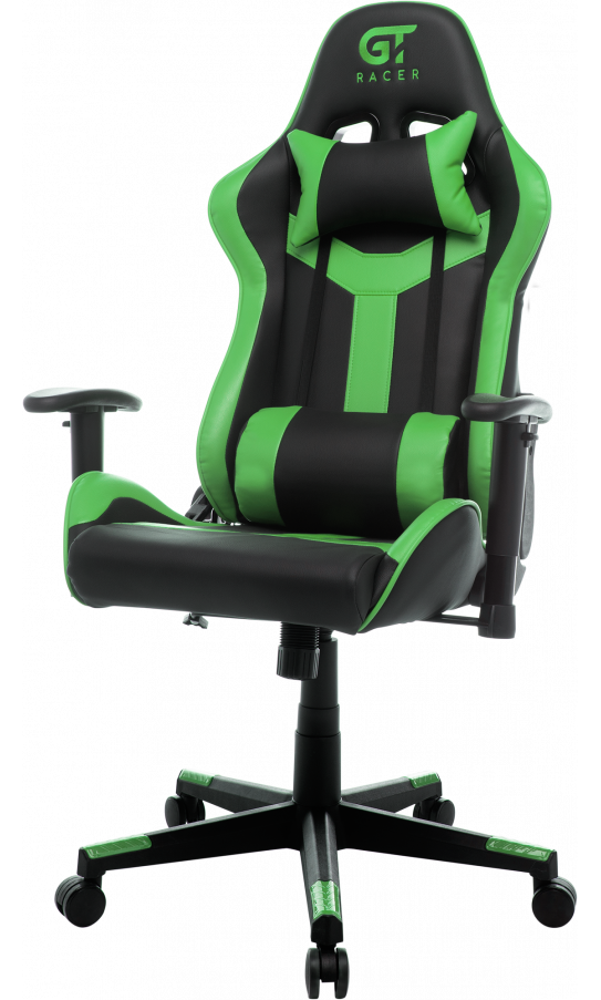 Геймерське крісло GT Racer X-2527 Black/Green (уцінка)