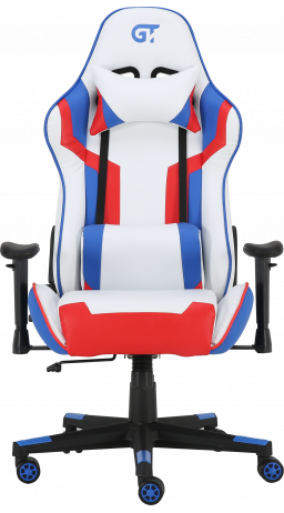 11Геймерське крісло GT Racer X-2530 White/Blue/Red