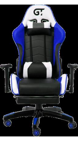 11Геймерське крісло GT Racer X-2532-F Black/Blue/White
