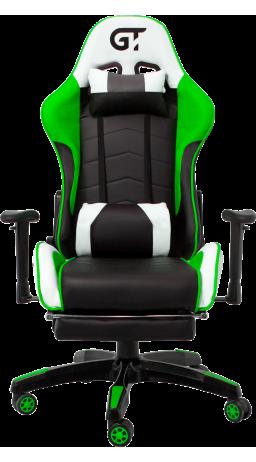 11Геймерське крісло GT Racer X-2532-F Black/Green/White