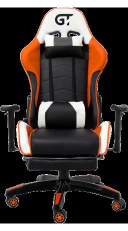 11Геймерське крісло GT Racer X-2532-F Black/Orange/White